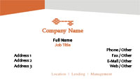 White and Orange Key Business Card Template